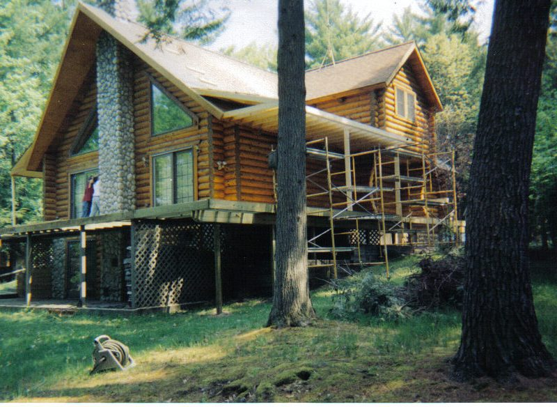 Appalachian log home repair